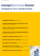 Dossier Trainingspraxis, Teil 2: Lebendige Trainings
