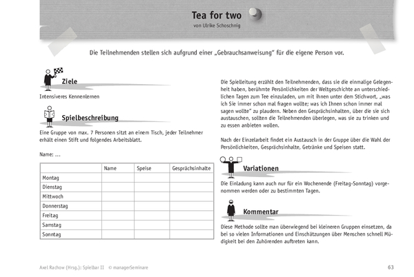 Trainingsspiel: Tea for Two