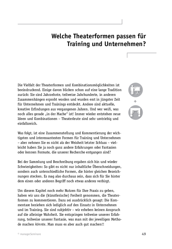 21 Theaterformen für das Training