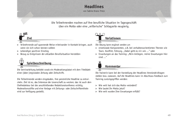 Trainingsspiel: Headlines