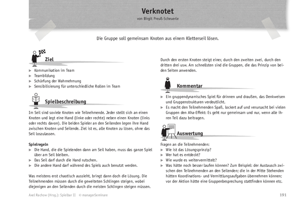 Trainingsspiel: Verknotet
