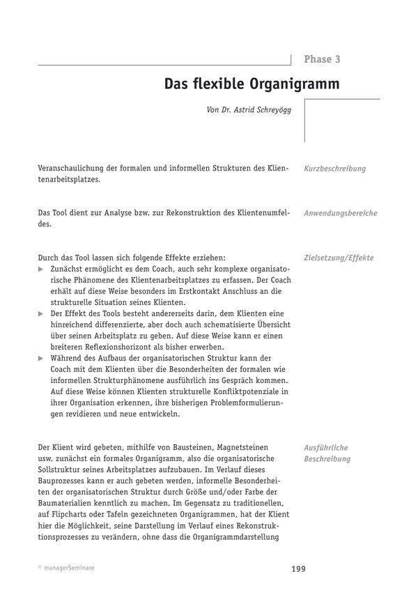 Coaching-Tool: Das flexible Organigramm