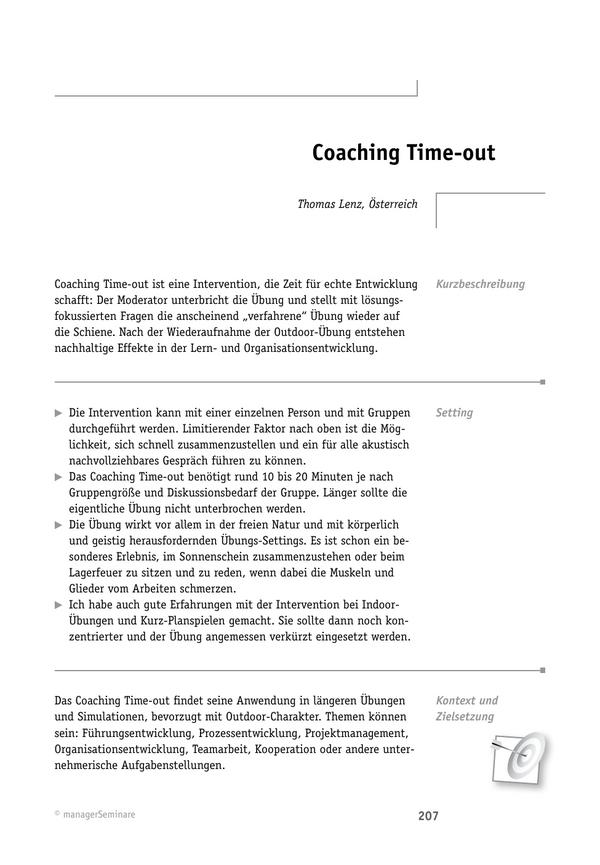 Solution-Tool: Coaching Time-out