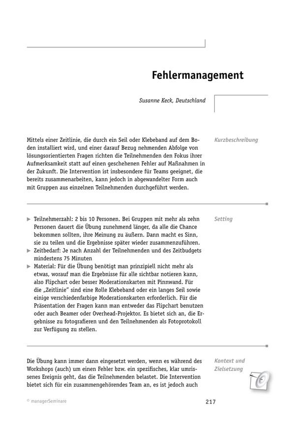 Solution-Tool: Fehlermanagement