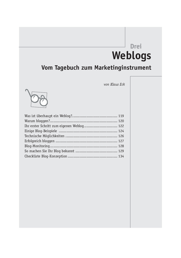 Trainermarketing: Weblogs als Marketinginstrument