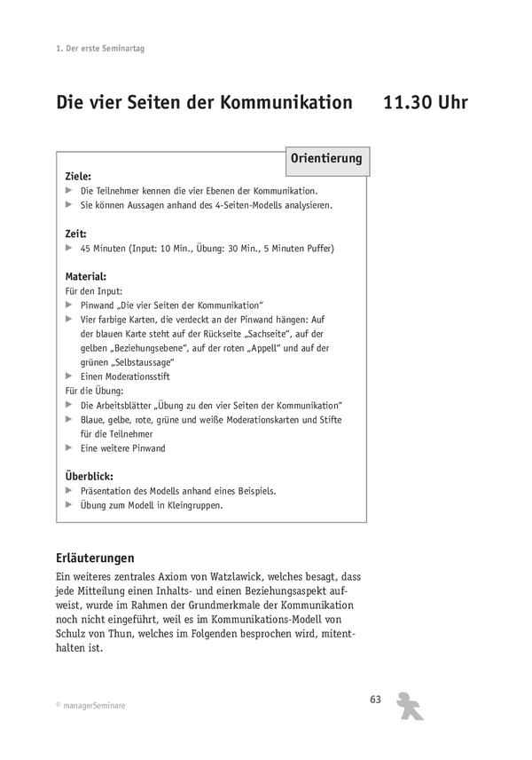 Kommunikationstraining: Die vier Seiten der Kommunikation – Modell ...