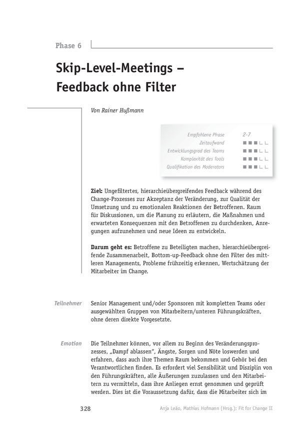 Change-Tool: Skip-Level-Meetings - Feedback ohne Filter