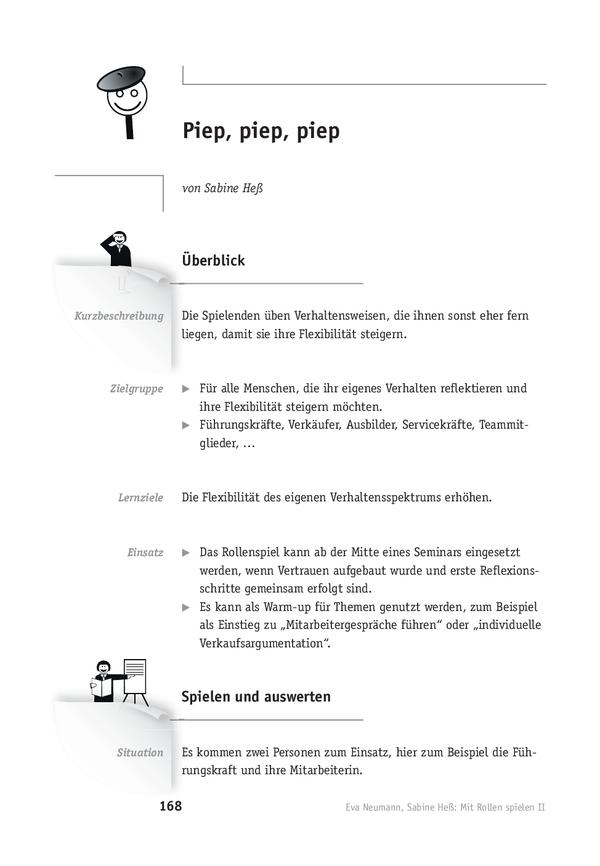 rollenspiel piep piep piep - Rollenspiel Mitarbeitergesprach Beispiel