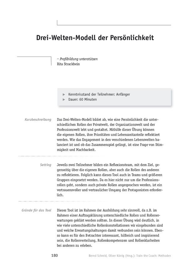 Train the Coach: Drei-Welten-Modell der Persönlichkeit