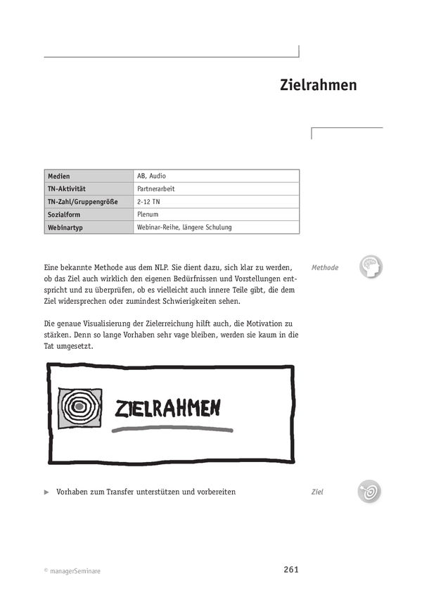 Webinar-Methode: Zielrahmen