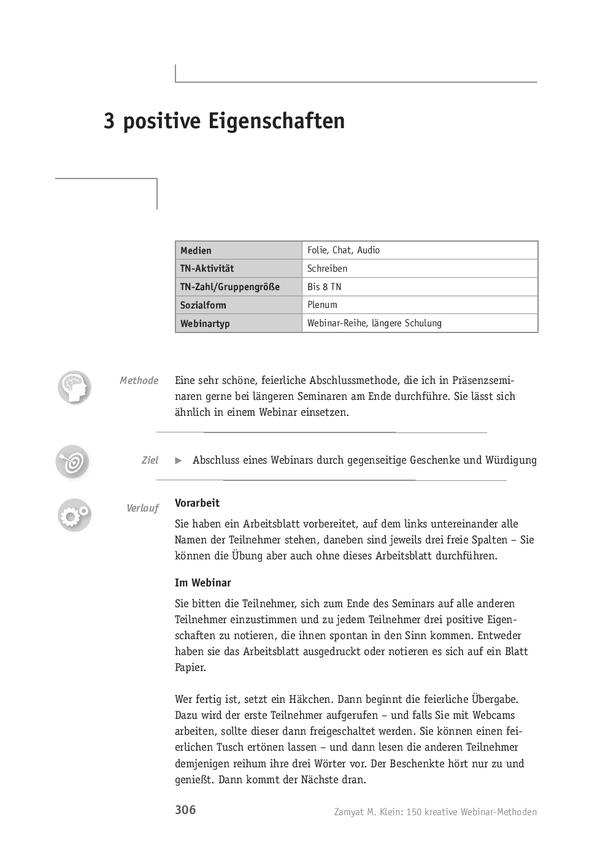Webinar-Methode: 3 positive Eigenschaften