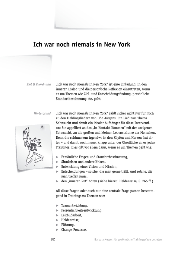 Reflexionsmethode: Ich war noch niemals in New York