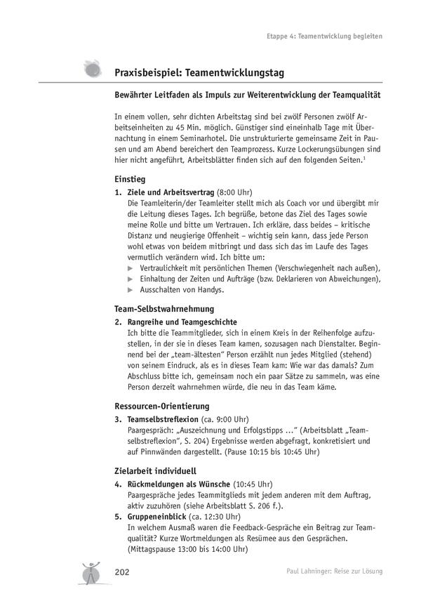 Teamentwicklung: Teamentwicklungstag – Praxisbeispiel