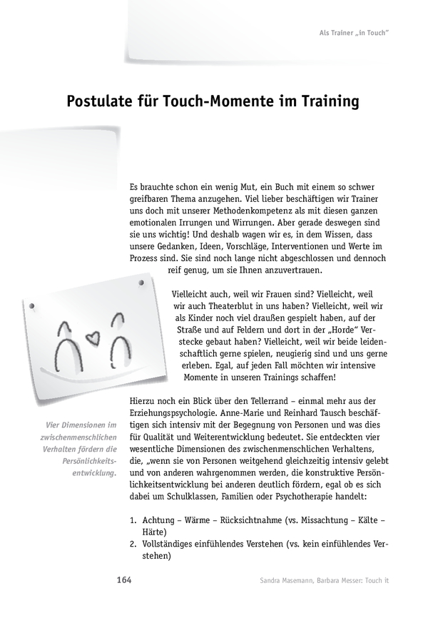 Emotional berührende Trainings: Postulate für Touch-Momente im Training