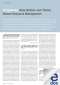 Testgelesen: B�cher zum Thema Human Resource Management