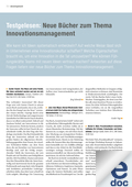Testgelesen: B�cher zum Thema Innovationsmanagement