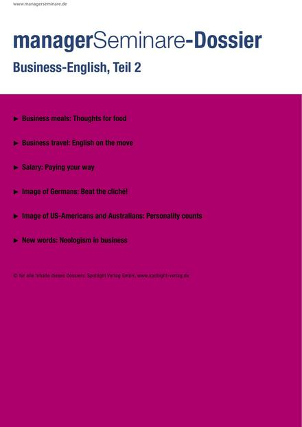 Dossier Business-English, Teil 2