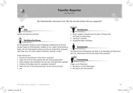 Trainingsspiel: Transfer-Reporter
