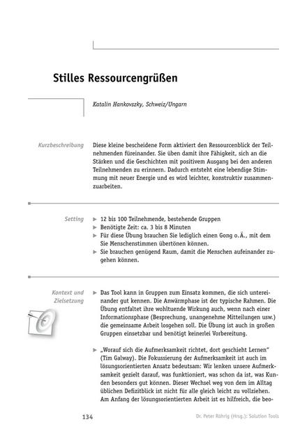 Solution-Tool: Stilles Ressourcengrüßen
