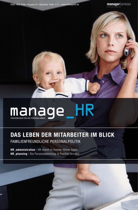 Cover manage_HR 02/08 vom 24.10.2008