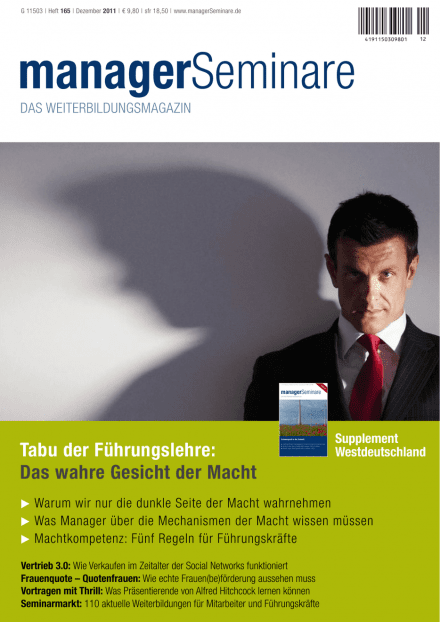 Cover managerSeminare 165 vom 18.11.2011
