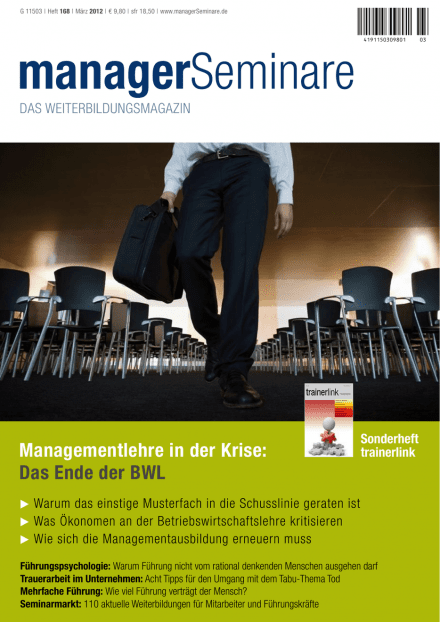 Cover managerSeminare 168 vom 17.02.2012