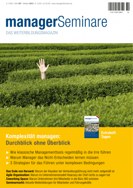 Cover managerSeminare 187 vom 20.09.2013