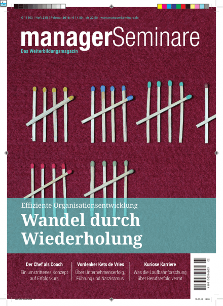 Cover managerSeminare 215 vom 22.01.2016