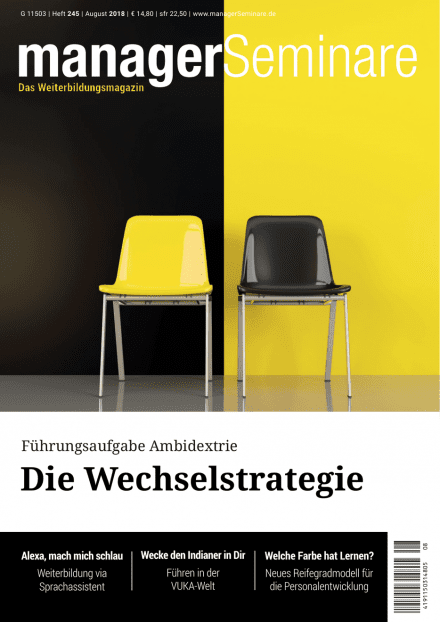 Cover managerSeminare 245 vom 20.07.2018