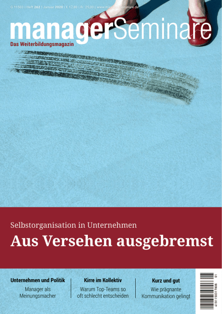 Cover managerSeminare 262 vom 13.12.2019