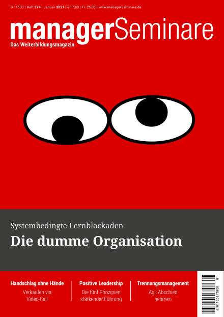 Cover managerSeminare 274 vom 18.12.2020