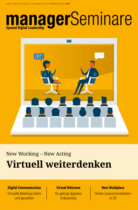 Extraheft  New Working – New Acting: Virtuell weiterdenken